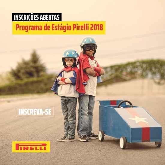 Pirelli abre inscrições para programa de estágio 2018