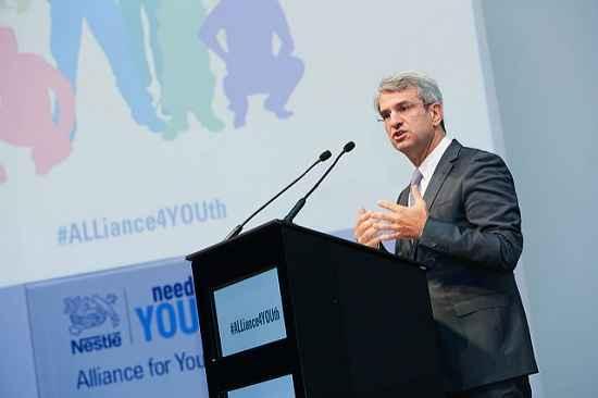 CEO da Nestlé é nomeado Embaixador Internacional pela Juventude