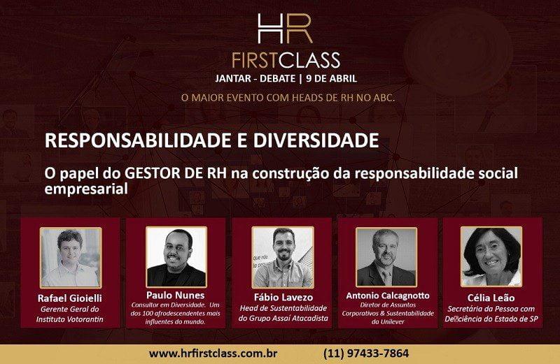 5ª edição do HR First Class trará debate sobre responsabilidade social nas empresas