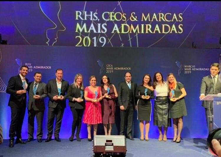 ADP recebe o prêmio RH, CEOs e Marcas Mais Admiradas de 2019