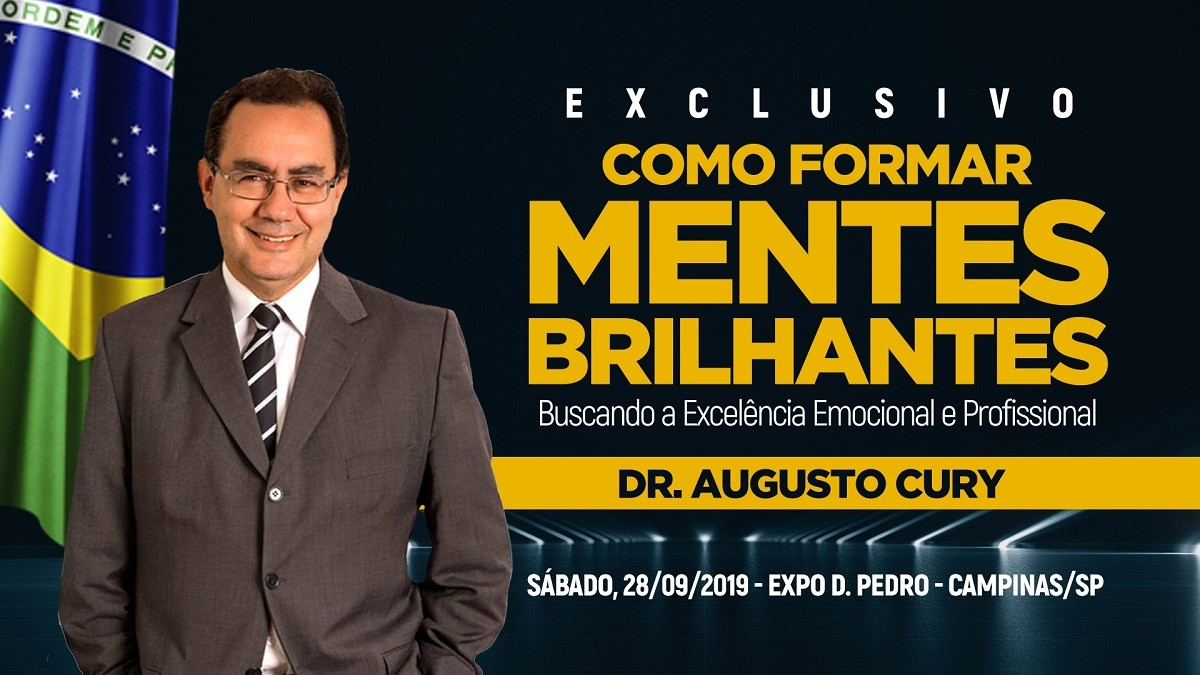 Augusto Cury promove curso para formação de mentes brilhantes e a busca da excelência emocional e profissional
