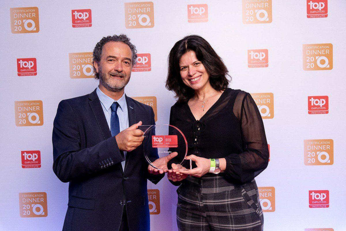 Arcos Dorados recebe a certificação Top Employers Brasil 2020